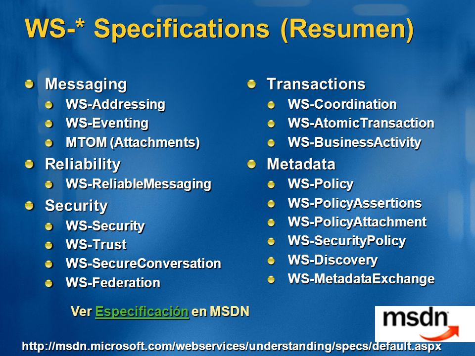 WS-* Specifications (Resumen)