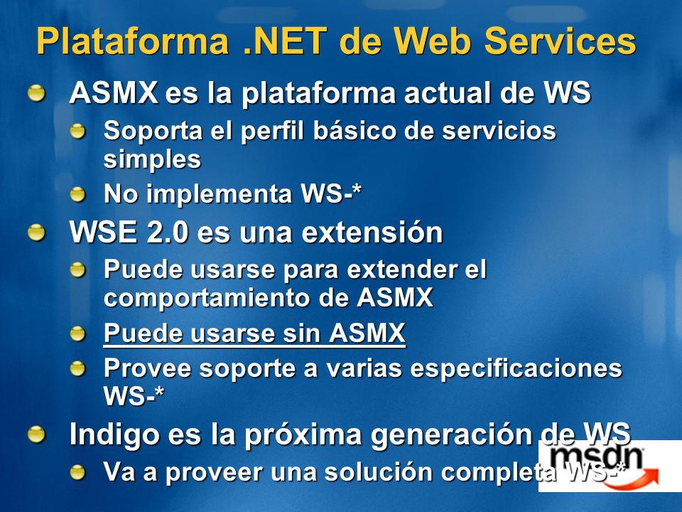 Plataforma .NET de Web Services