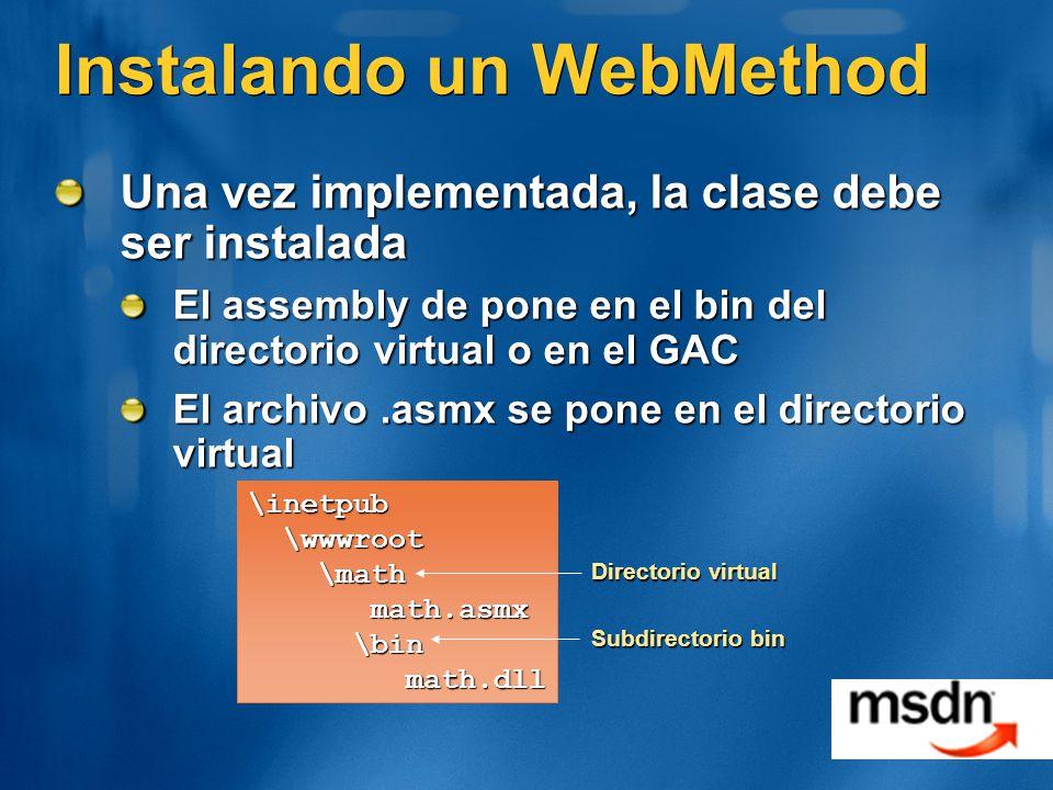 Instalando un WebMethod