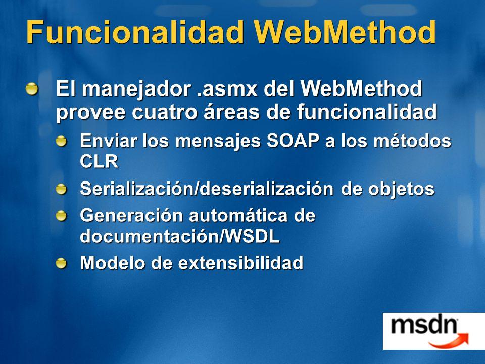 Funcionalidad WebMethod