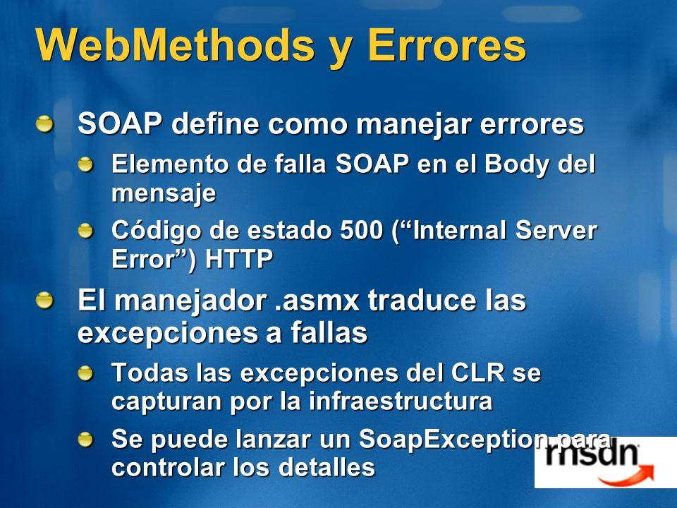 WebMethods y Errores SOAP define como manejar errores