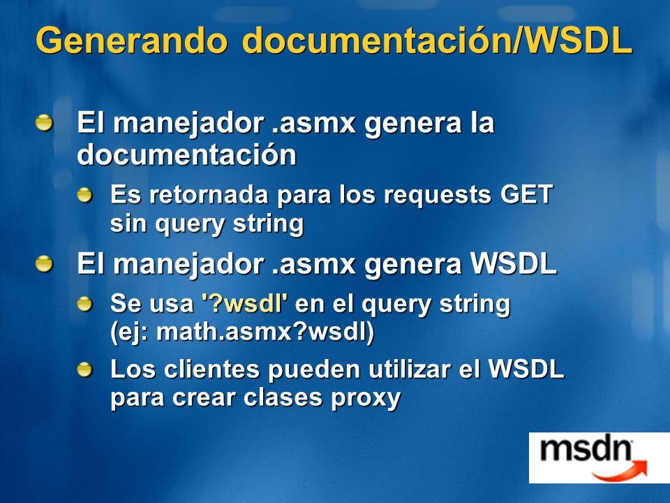 Generando documentación/WSDL