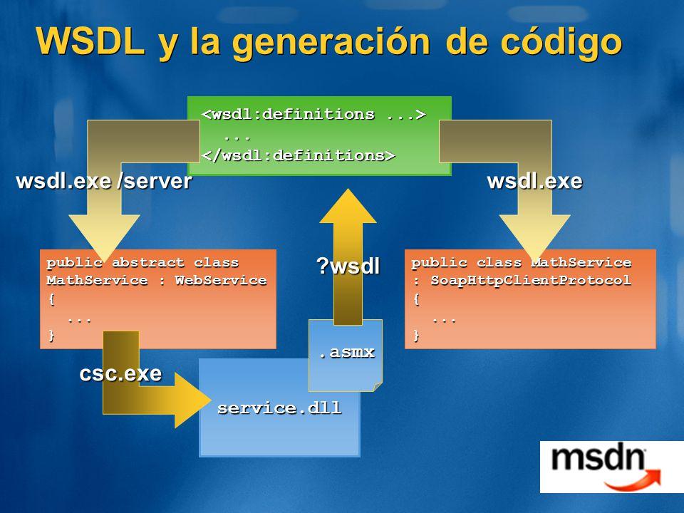 WSDL y la generación de código