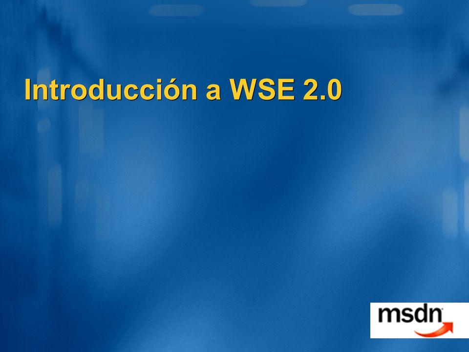 Introducción a WSE 2.0 TechEd 2002