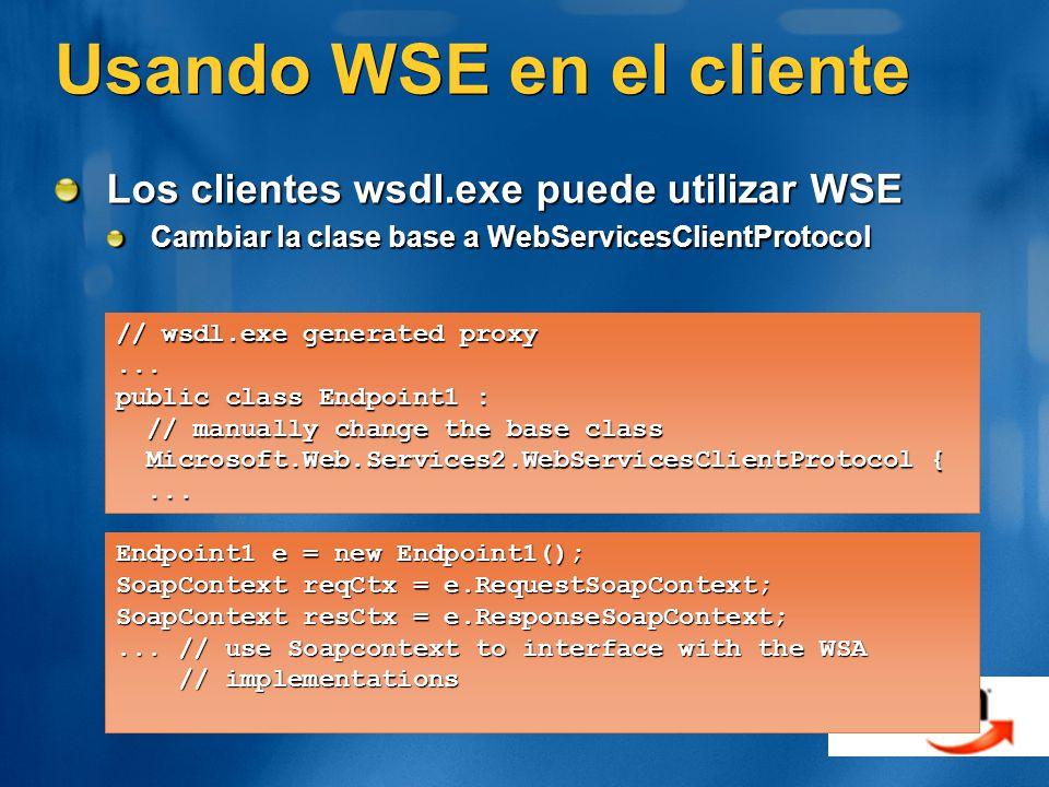 Usando WSE en el cliente