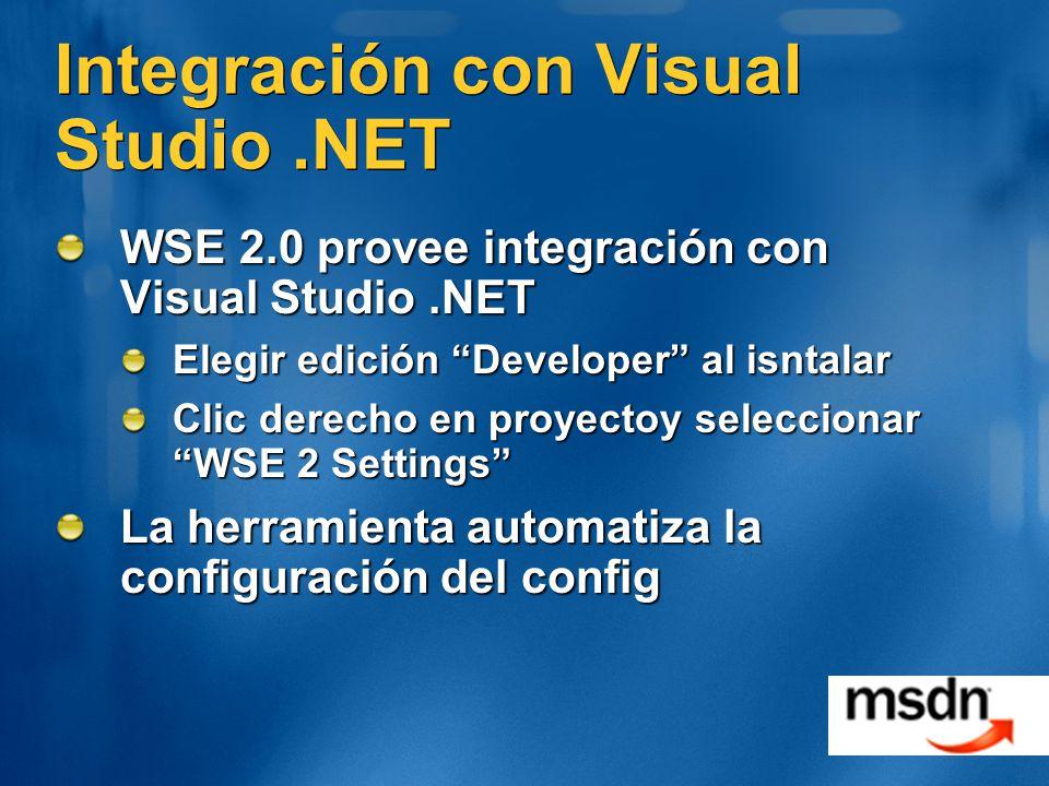 Integración con Visual Studio .NET