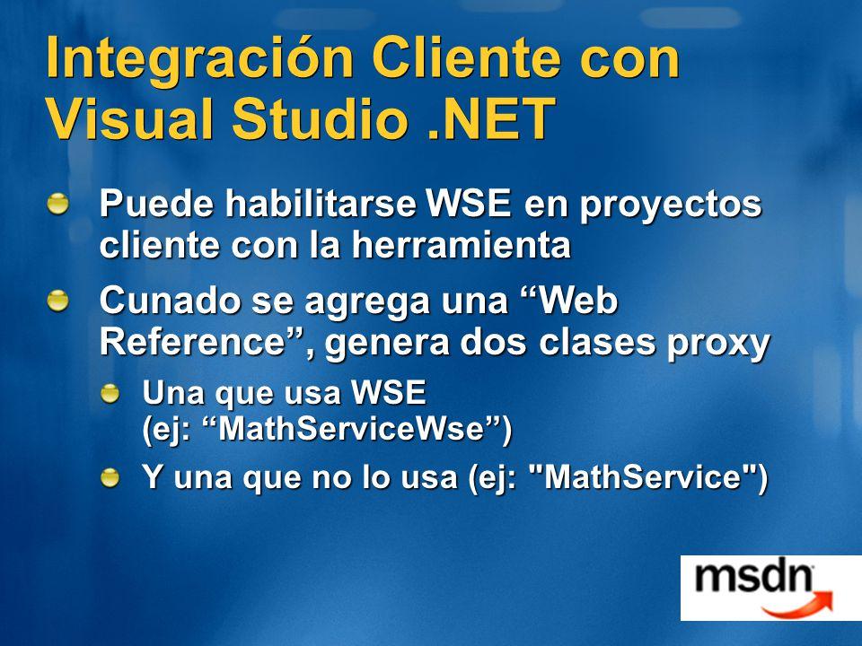 Integración Cliente con Visual Studio .NET