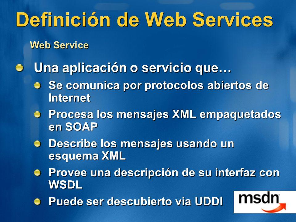 Definición de Web Services