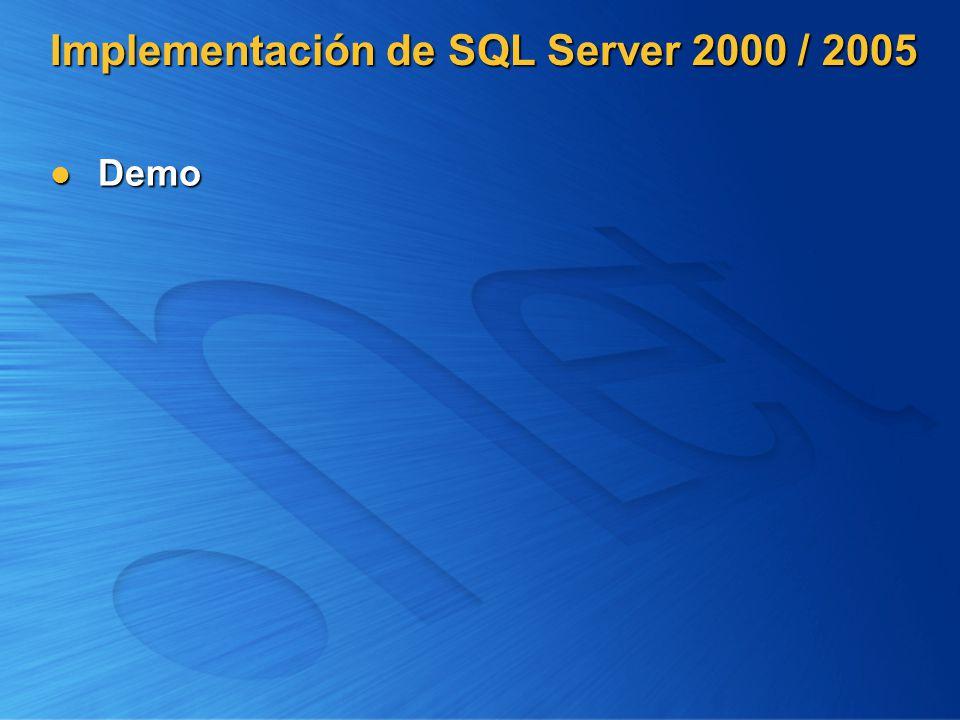 Implementación de SQL Server 2000 / 2005