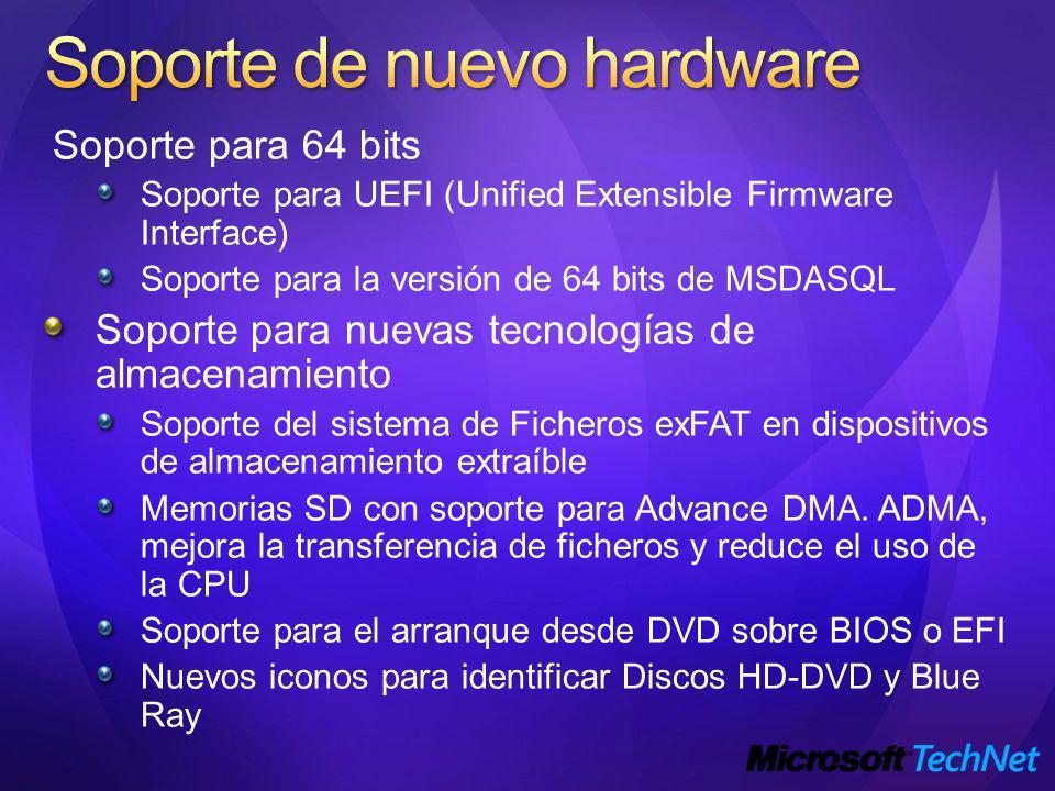 Soporte de nuevo hardware