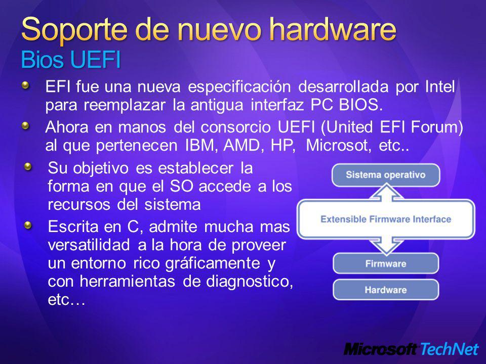 Soporte de nuevo hardware Bios UEFI