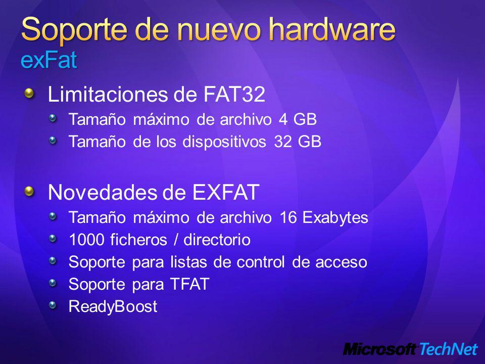 Soporte de nuevo hardware exFat