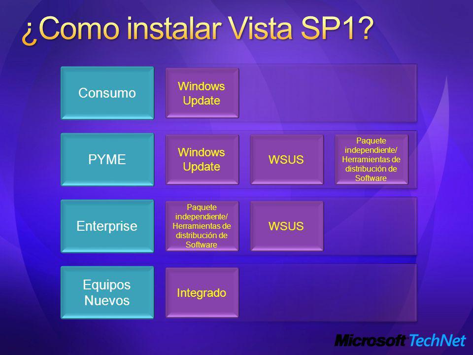 ¿Como instalar Vista SP1