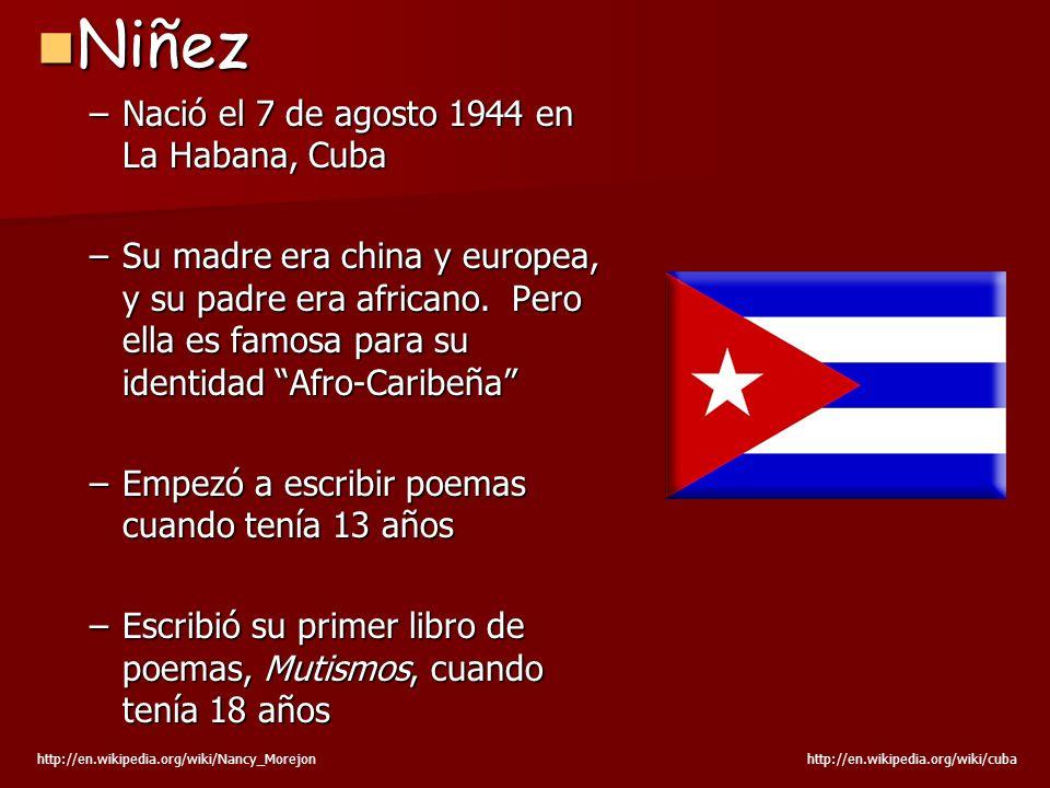 Niñez Nació el 7 de agosto 1944 en La Habana, Cuba