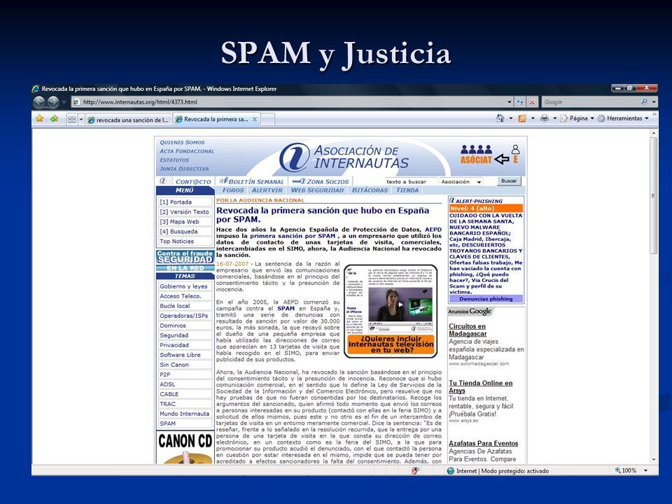 SPAM y Justicia