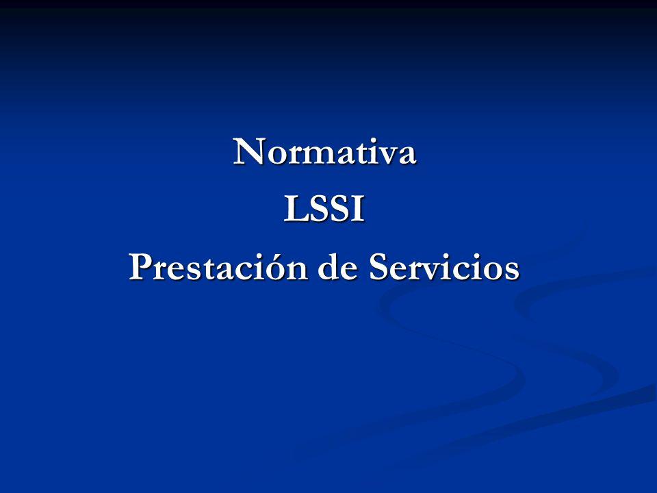 Normativa LSSI Prestación de Servicios