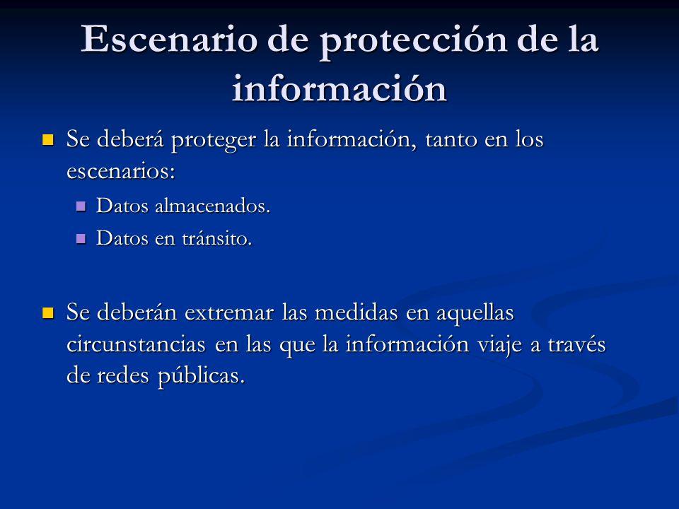 Escenario de protección de la información