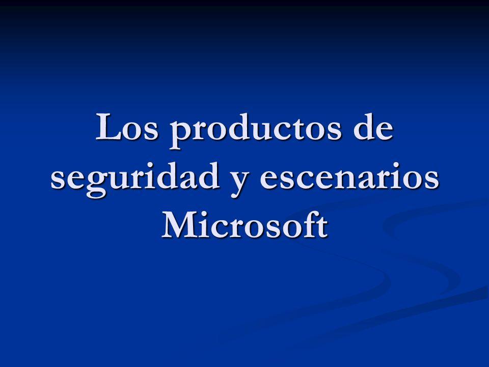 Los productos de seguridad y escenarios Microsoft