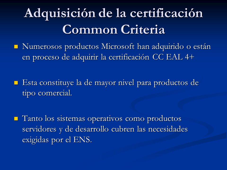 Adquisición de la certificación Common Criteria