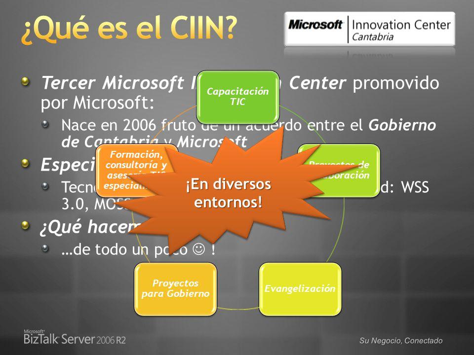 4/1/2017 6:59 PM ¿Qué es el CIIN Tercer Microsoft Innovation Center promovido por Microsoft: