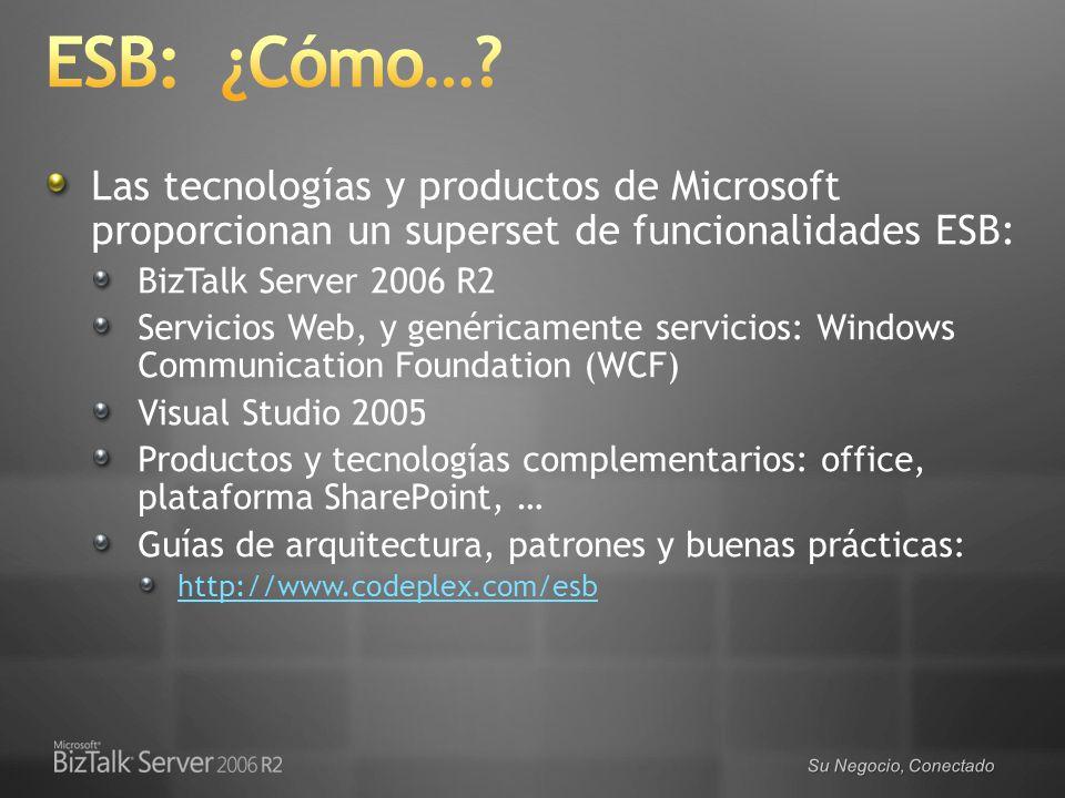 ESB: ¿Cómo… Las tecnologías y productos de Microsoft proporcionan un superset de funcionalidades ESB: