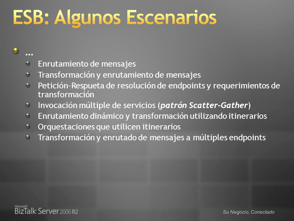 ESB: Algunos Escenarios