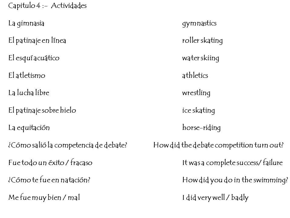 Capitulo 4 :- Actividades