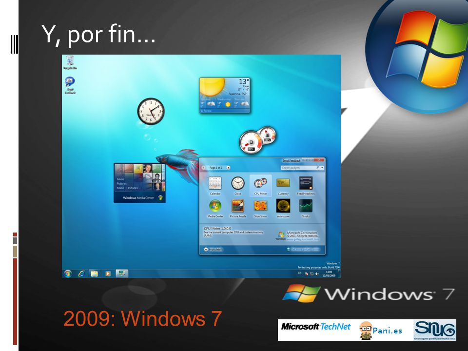 Y, por fin… 2009: Windows 7 Pani.es