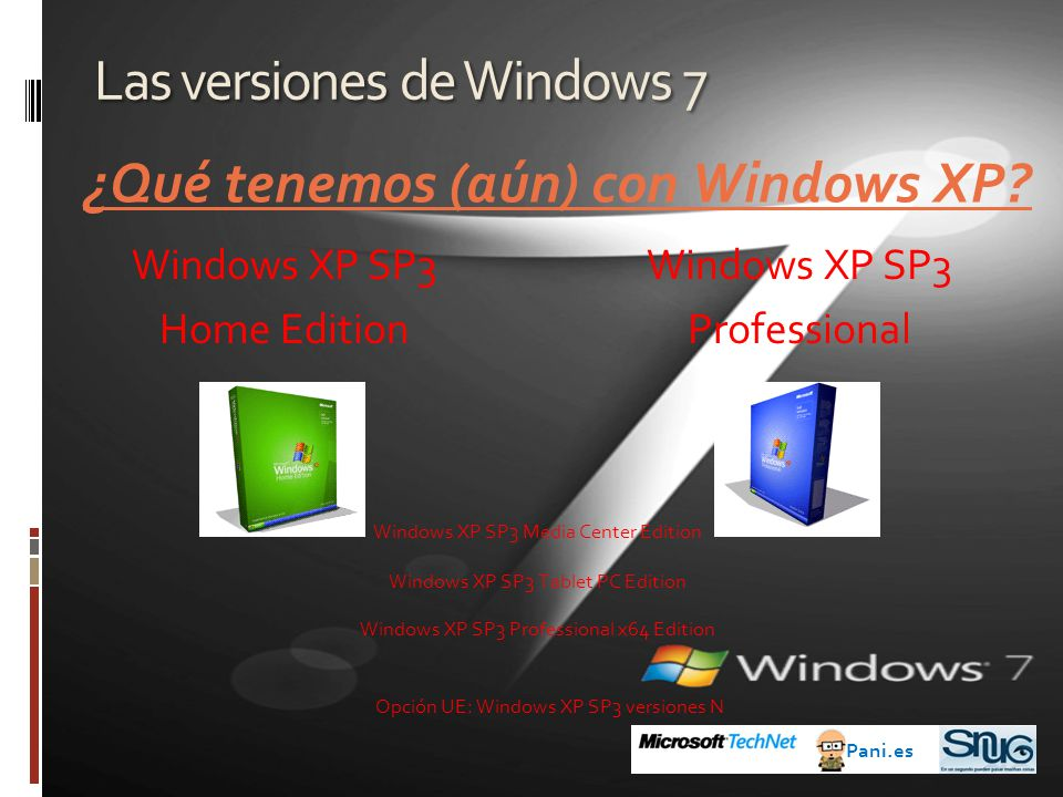 Las versiones de Windows 7