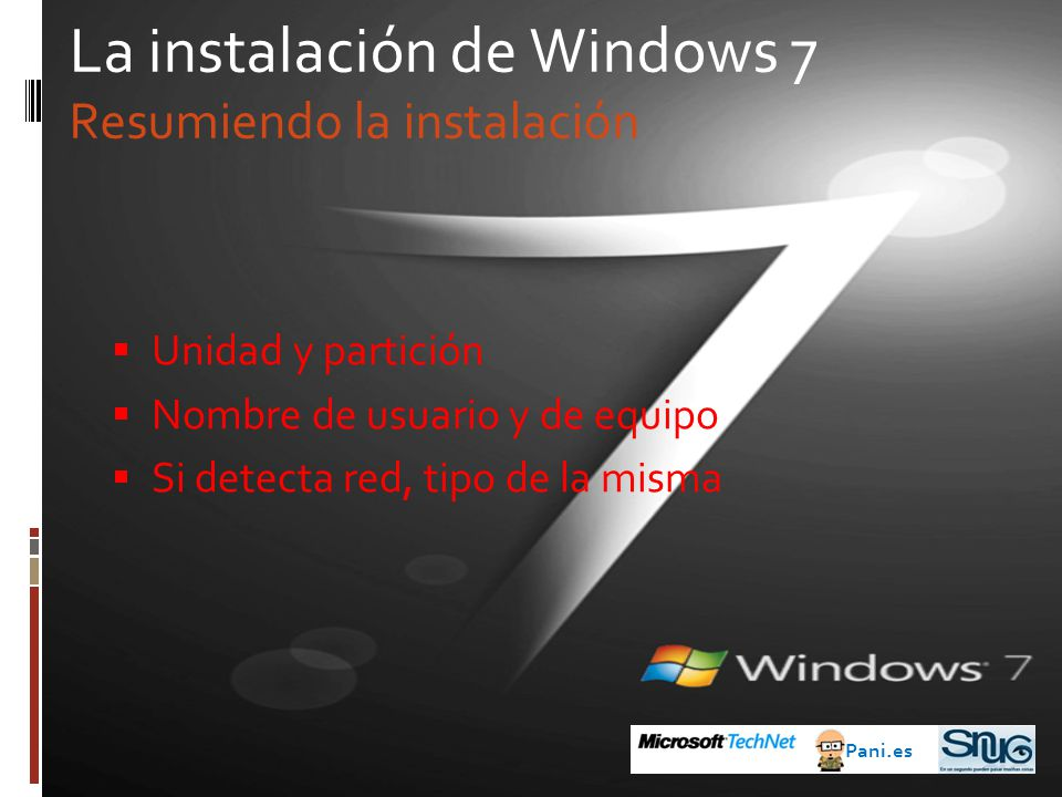La instalación de Windows 7