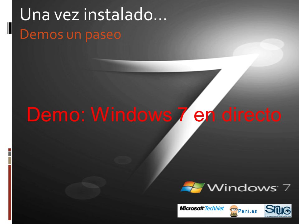 Demo: Windows 7 en directo