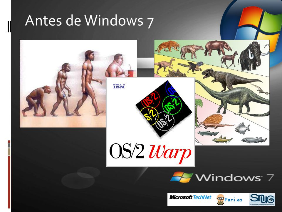 Antes de Windows 7 Pani.es