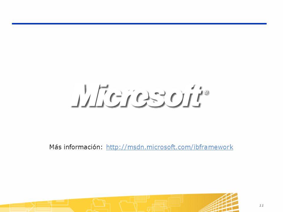 Más información: http://msdn.microsoft.com/ibframework