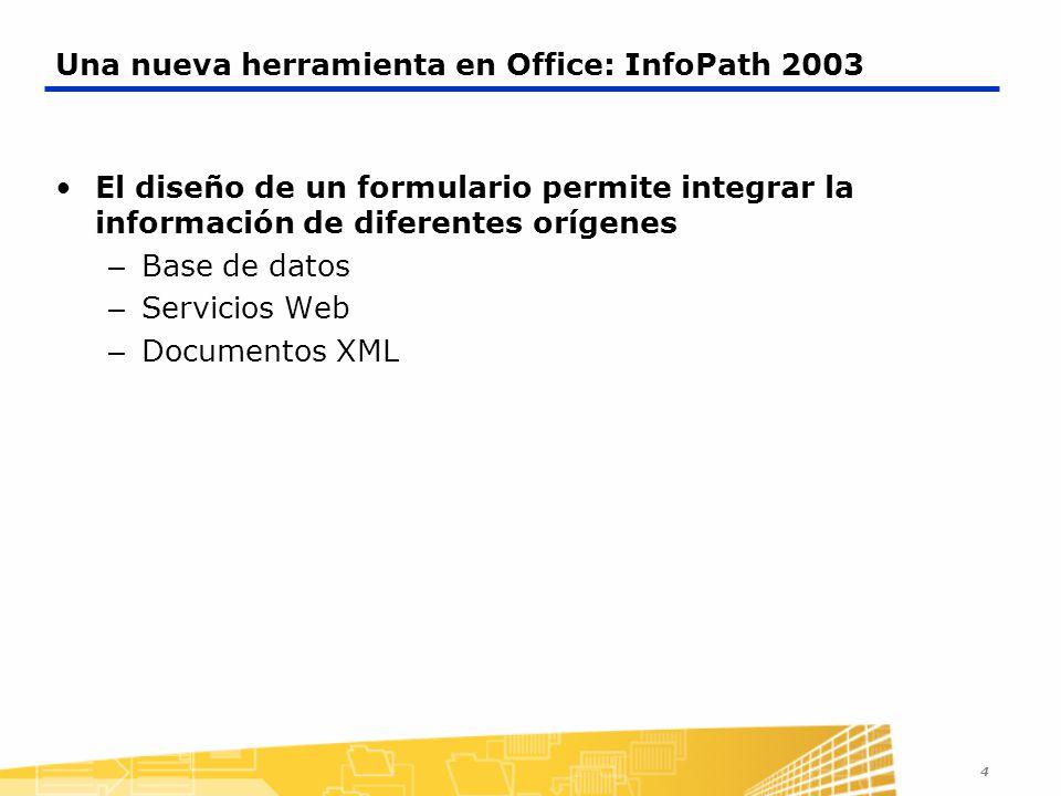 Una nueva herramienta en Office: InfoPath 2003