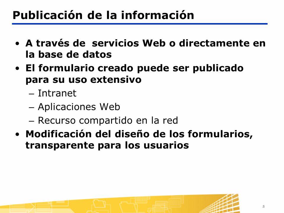 Publicación de la información