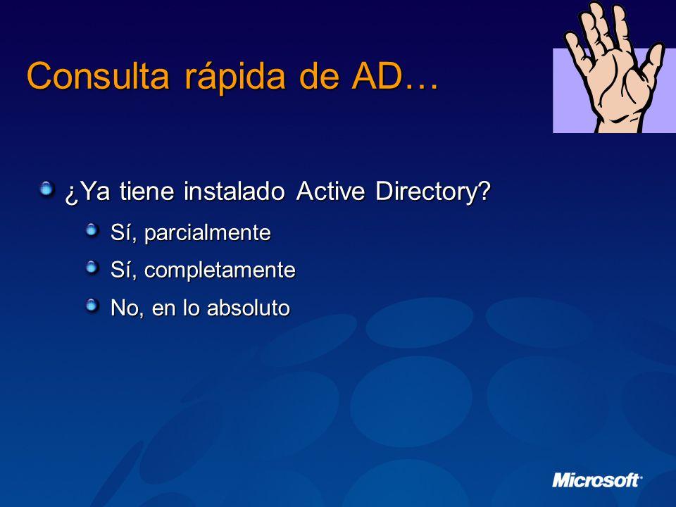Consulta rápida de AD… ¿Ya tiene instalado Active Directory