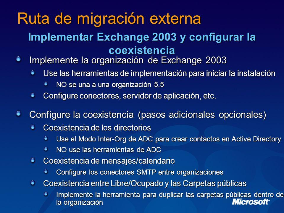 Ruta de migración externa