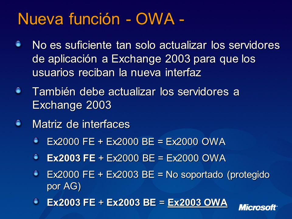 Nueva función - OWA -