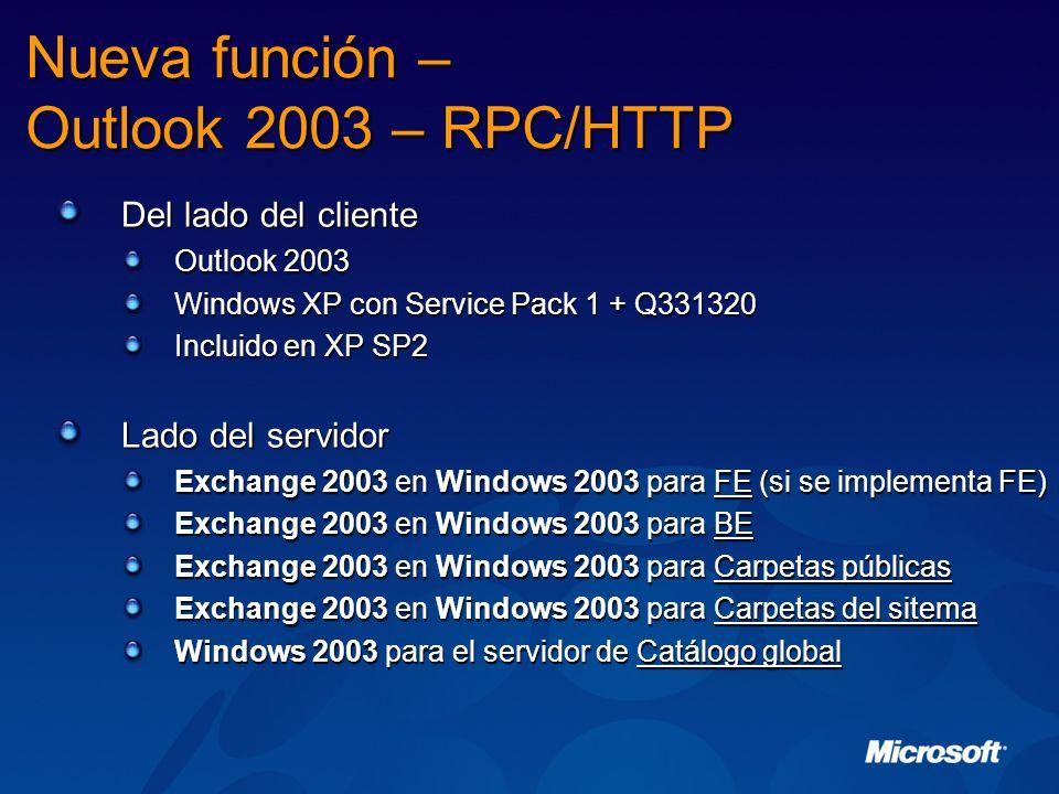 Nueva función – Outlook 2003 – RPC/HTTP