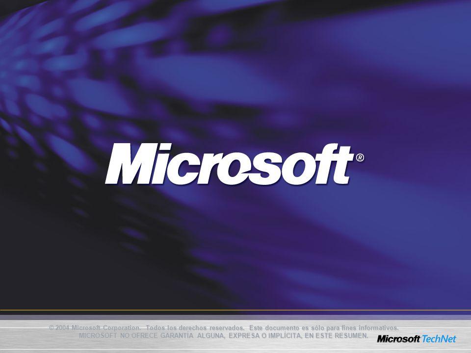 © 2004 Microsoft Corporation. Todos los derechos reservados
