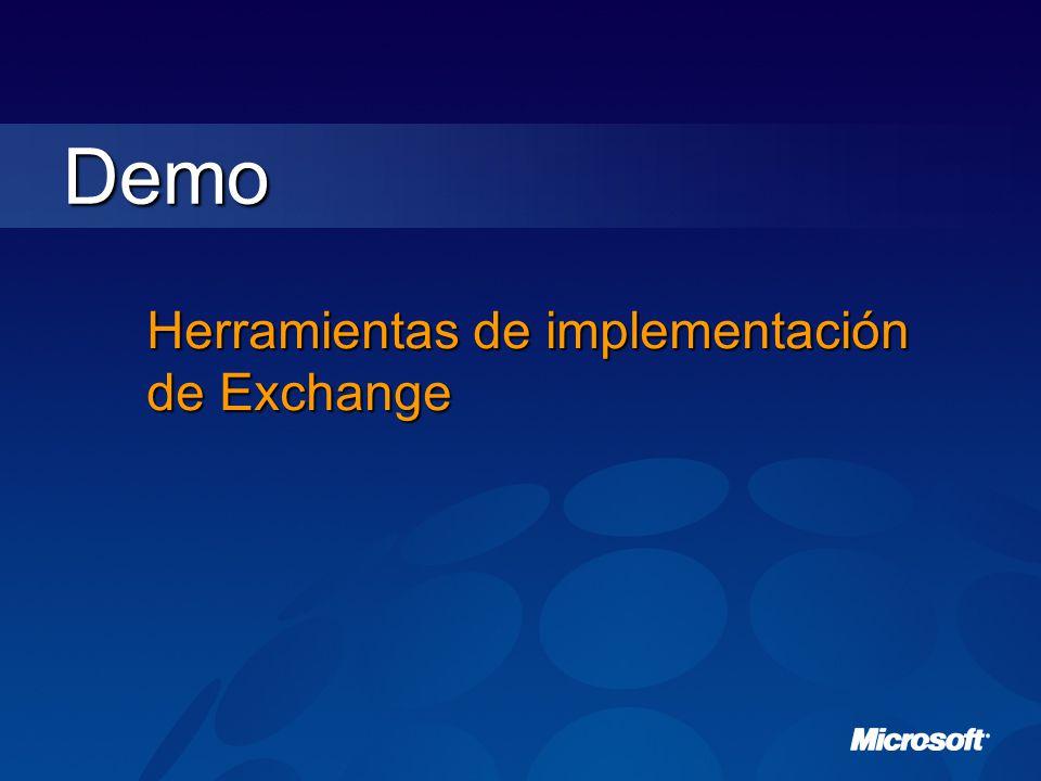 Demo Herramientas de implementación de Exchange
