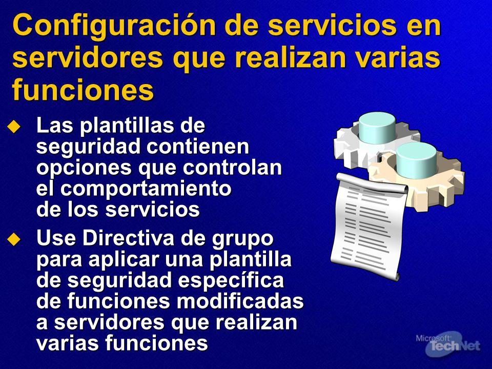 Configuración de servicios en servidores que realizan varias funciones