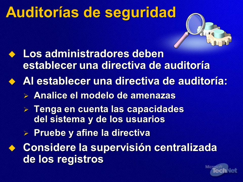 Auditorías de seguridad