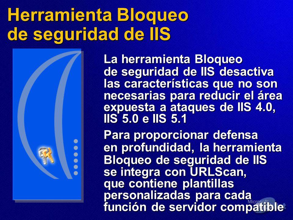 Herramienta Bloqueo de seguridad de IIS