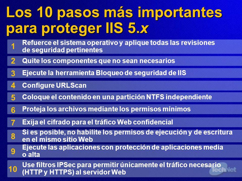 Los 10 pasos más importantes para proteger IIS 5.x