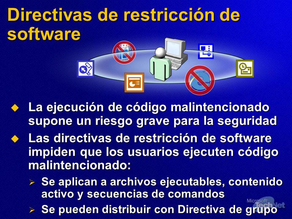 Directivas de restricción de software