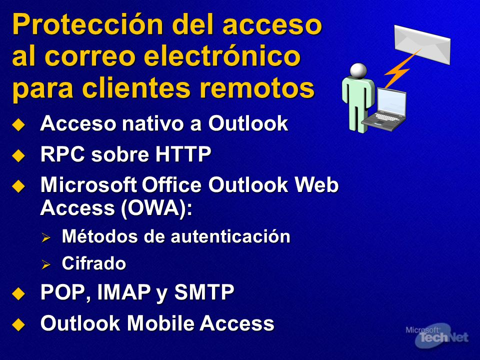 Protección del acceso al correo electrónico para clientes remotos