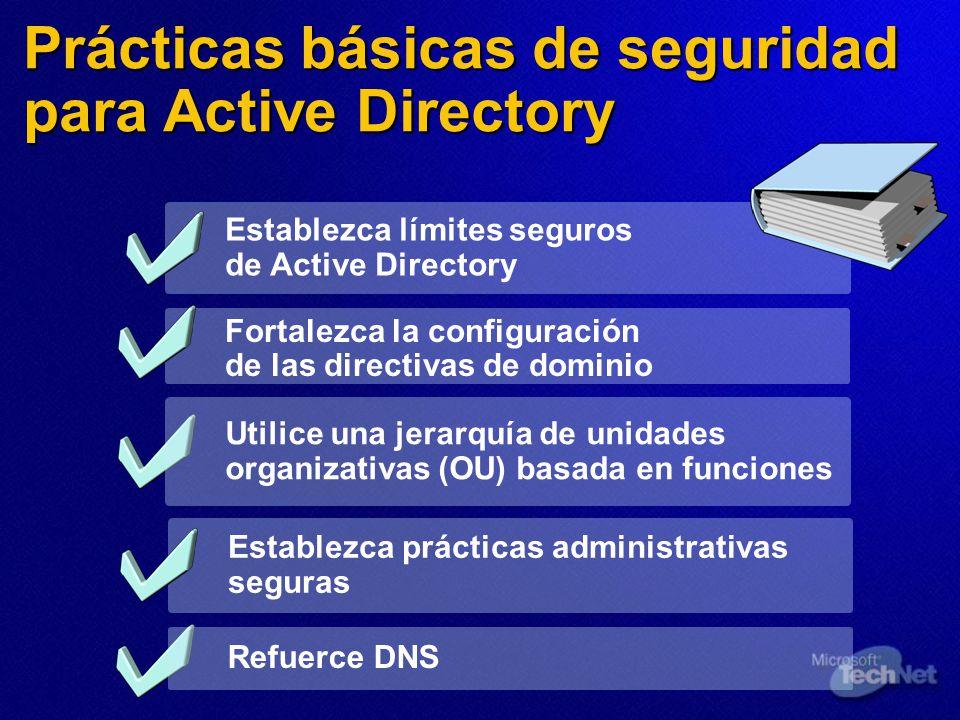 Prácticas básicas de seguridad para Active Directory