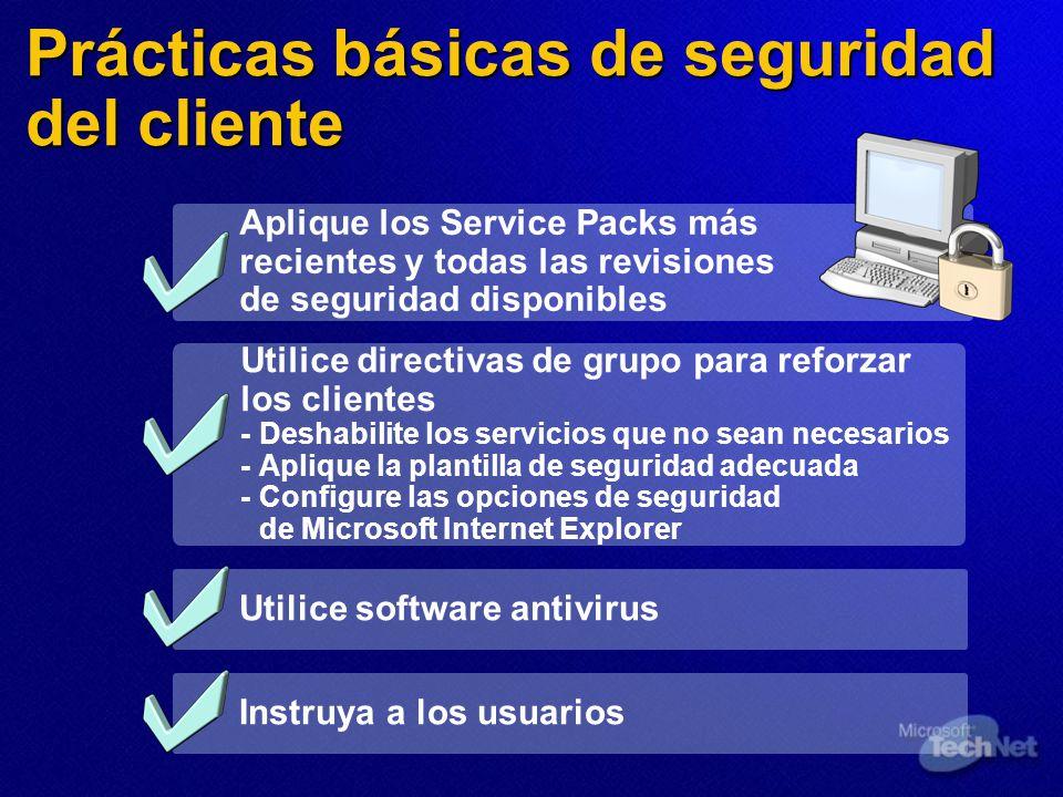 Prácticas básicas de seguridad del cliente