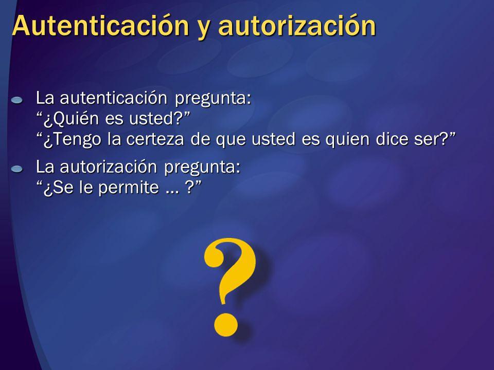 Autenticación y autorización